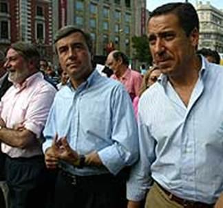 El PP ha estado representado por Mayor Oreja, ngel Acebes y Eduardo Zaplana. (Foto: Kike Para)
