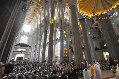 Ceremonia de bendición de la Basílica de la Sagrada Familia.Barcelona 7 Noviembre 2010